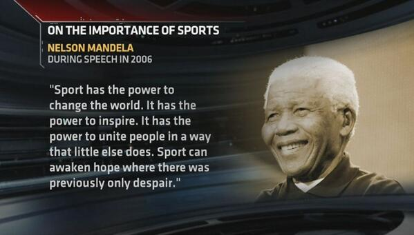 Mandela Quote on Sports