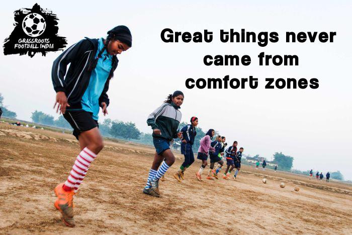 Indian Girls Football Training