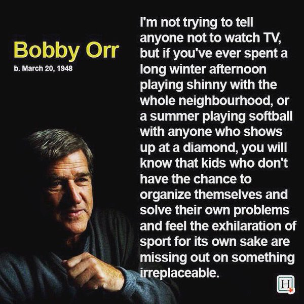Bobby Orr Quote on Free Play
