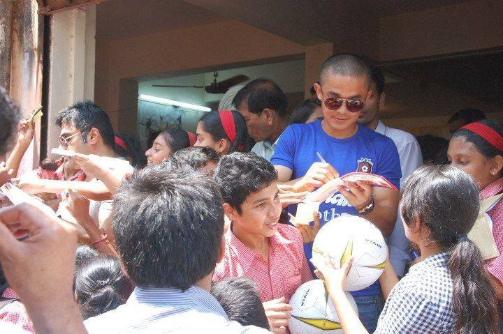 Chhetri with youth